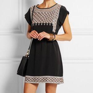Madewell | 100% Silk Starflower Embroidered Dress